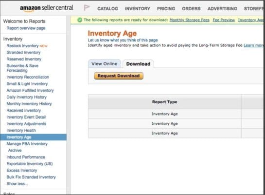 amazon removal orders inventory age